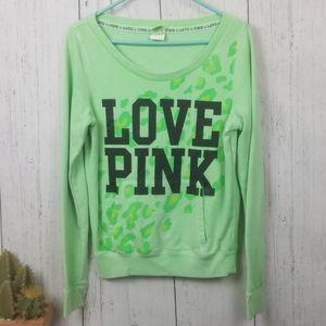 Pink Victoria secret long sleeve sweatshirt size M